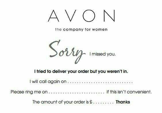Dorry I Missed You Avon Marketing Avon Avon Business