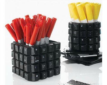 Ideias para reutilizar lixo eletrônico - Lixo eletrônico - Arte Reciclada: