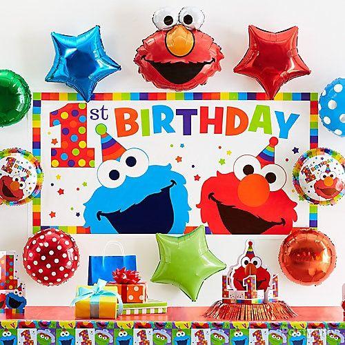 Elmo First Birthday Party Ideas In 2020 Elmo First Birthday First Birthday Parties First Birthday Balloons