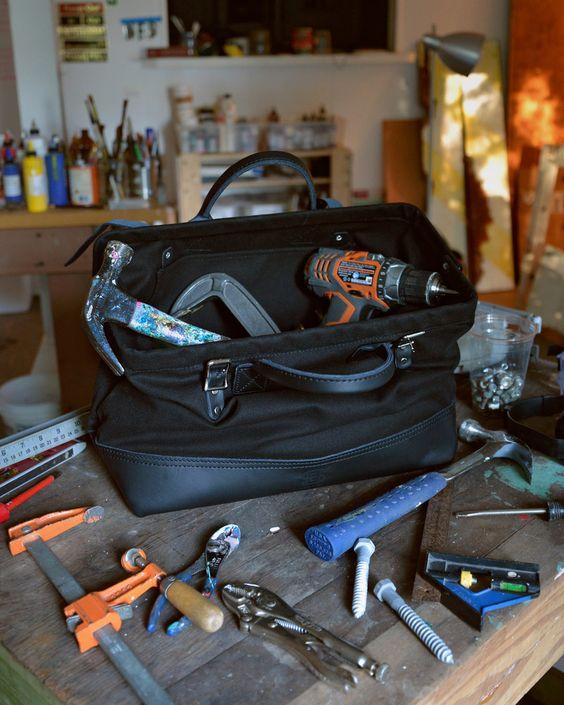 "Hand-Eye Supply 16"" Canvas Tool Bag Black"