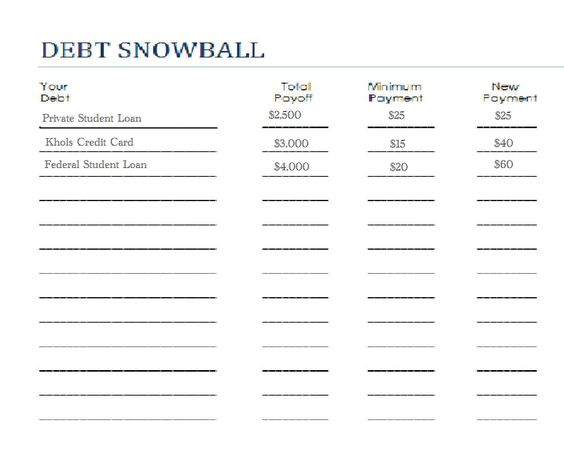 Worksheet Debt Snowball Worksheet worksheets debt snowball and on pinterest worksheet