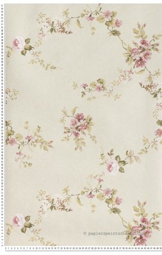 fleurs roses fond beige papier peint lut ce j 39 aime wallpaper pinterest roses. Black Bedroom Furniture Sets. Home Design Ideas
