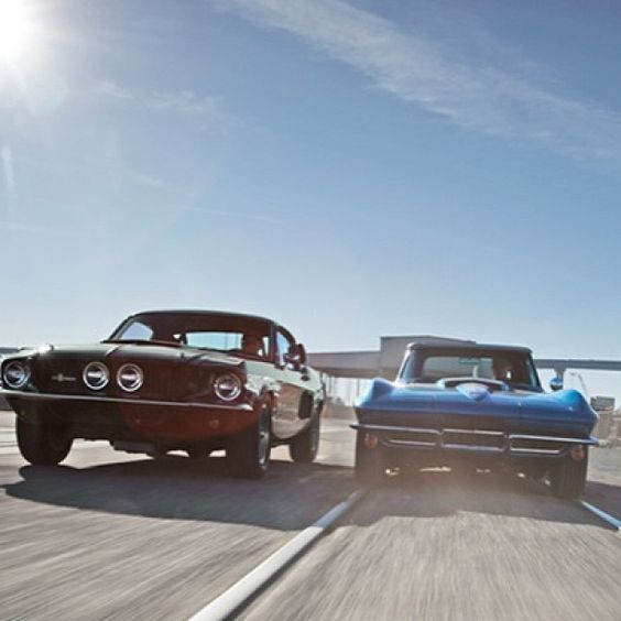 Two very sexy cars. 67' Ford Shelby vs. 67' corvette.