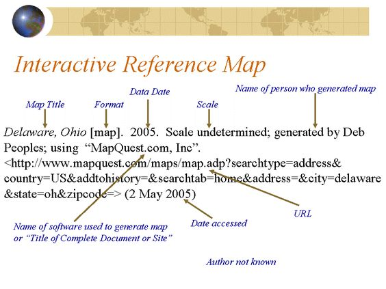 How To Cite Google Maps ~ AFP CV How To Cite A Map on