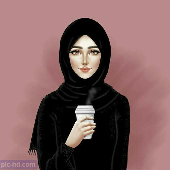 رمزيات بنات محجبات اجمل صور رمزيات بنات كيوت رمزيات كشخه للبنات Hijab Drawing Hijab Cartoon Islamic Girl