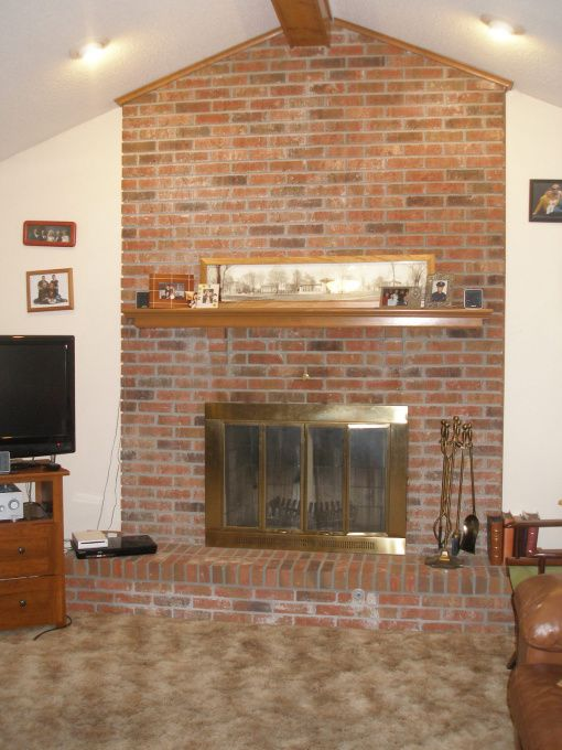 Fireplace renovations ideas fireplace remodel the brick for Redesign my room