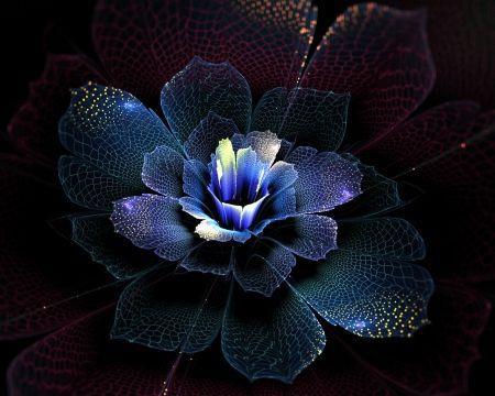 Something Blue - design, fantasy, fractals, blue, art