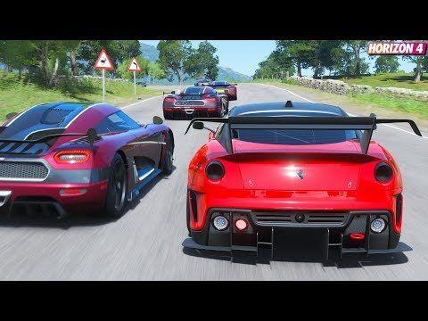 Forza Horizon 4 Ferrari 599xx Evo Goliath Race Gameplay Youtube Forza Horizon 4 Forza Horizon Forza