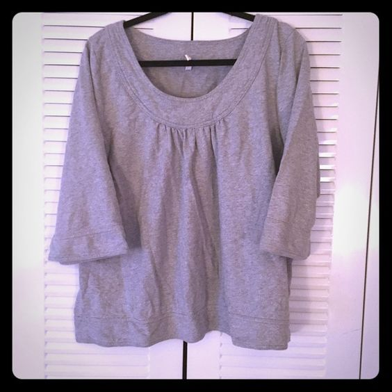 Grey Lightweight Sweater This adorable sweater is made of a lightweight sweatshirt material. 3/4 length sleeves and perfect for spring and cooler summer days! Old Navy Tops