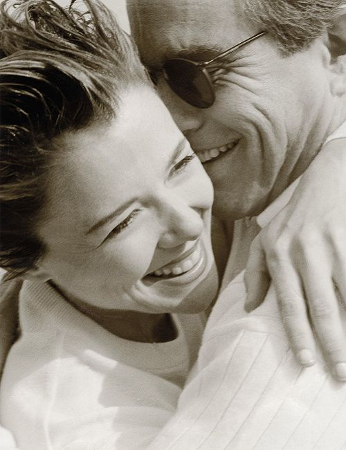 Annette Bening & Warren Beatty, photographed by Herb Ritts.