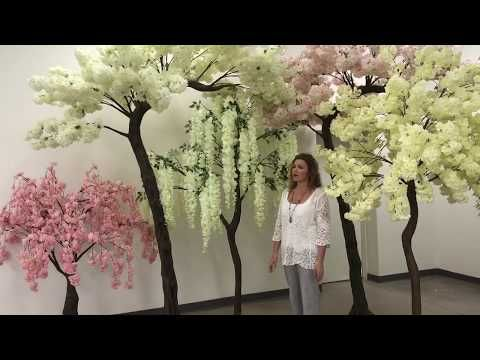 Artificial Trees Silk Floral Decor Plants Faux Green Flower Walls Shopwildthings Com Cherry Blossom Tree Blossom Trees Flowering Trees