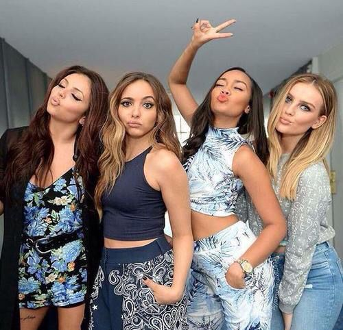 Another image which little mix used on a social media site. They have been presented as young and casual individuals who have fun together.