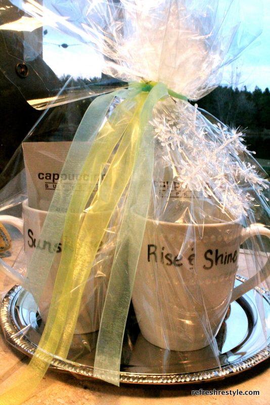 Dollar Tree Hostess Gift Idea | Trays, Sharpie mugs and Coffee