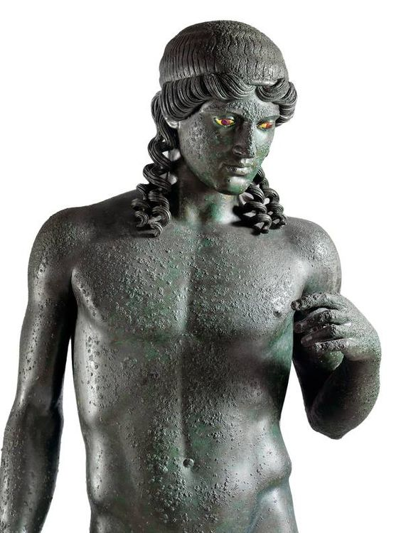 Statue of Apollo Kitharoedus (detail), from the Casa del Citarista at Pompeii, late 1st century BC. National Archaeological Museum in Naples.