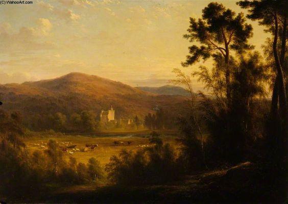 Vue d un château écossais de James William Giles (1801-1870, United Kingdom)