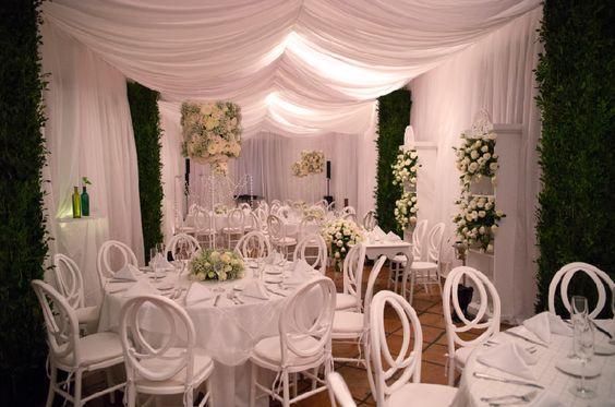 White classic wedding. Magic Forest. Decoración Boda Blanca clásica