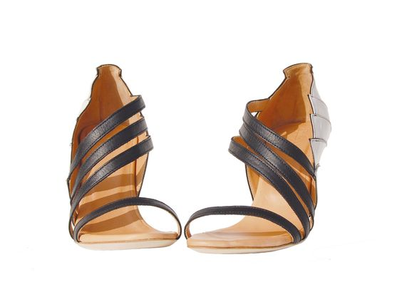 High-Heel Leather Sandals