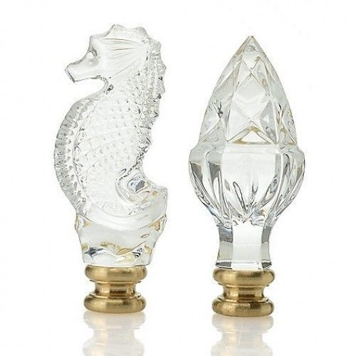 Waterford Acorn And Seahorse Finial Finials Set Of 2 New In Box