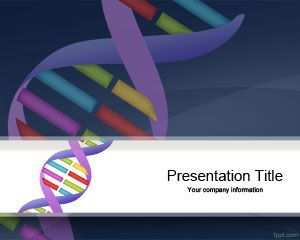 Genetics DNA Sequencing PowerPoint Template