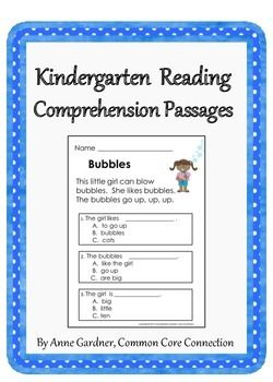 math worksheet : kindergarten reading comprehension passages with multiple choice  : Reading Comprehension With Multiple Choice Questions Worksheets
