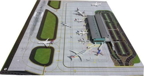 Gjaps006 Gemini 2 Piece Airport Matt Set 1 400 New Version 1 200 On Back Model Airplanes Airports Terminal Gemini
