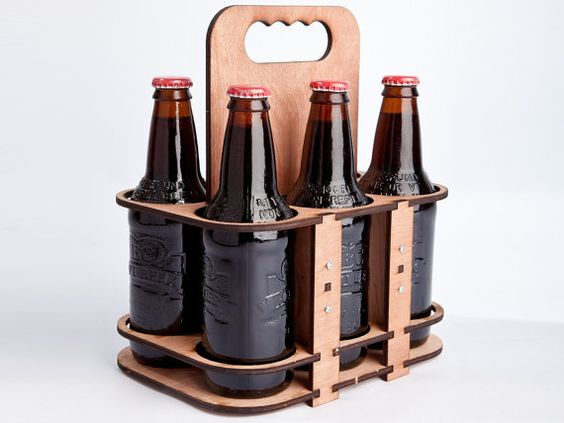 The 6 Packer  a lasercut 6 pack glass bottle holder by timogiles