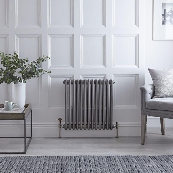 <p>Adding a modern twist to a traditional classic, this stunning cast iron style Regent column radiator features an eye-catching raw metal finish that will provide an extra dimension to your home heating.</p>