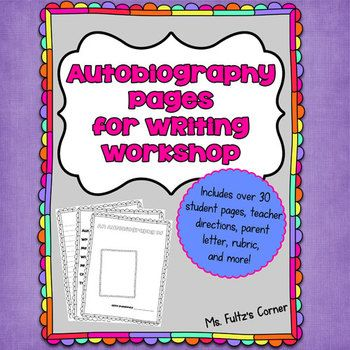 Autobiography project writing workshop and workshop on pinterest