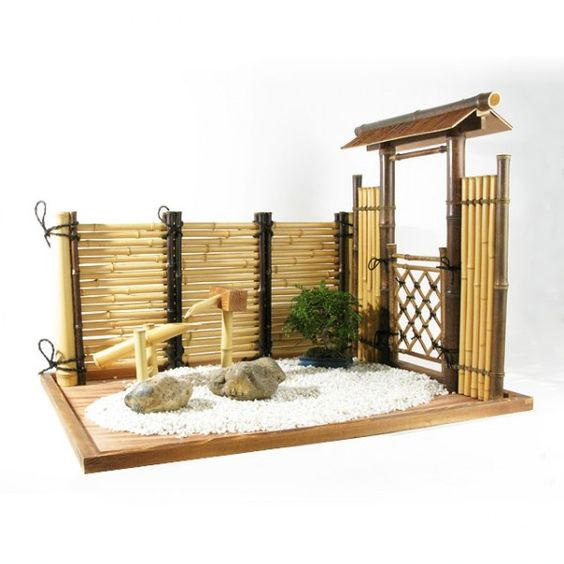 Jardins miniature and minis on pinterest for Jardin zen mini
