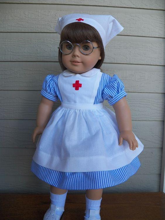 Molly in her Red Cross volunteer uniform