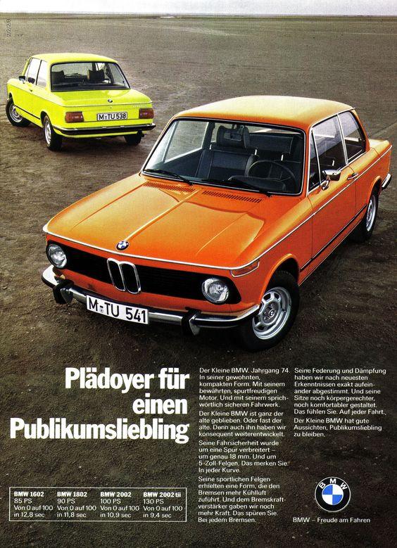 BMW 3er (1973) 02er - Serie: 1602 1802 2002 2002tii