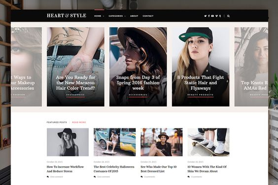 Heart & Style - Blog/Magazine Theme by Meridian Themes