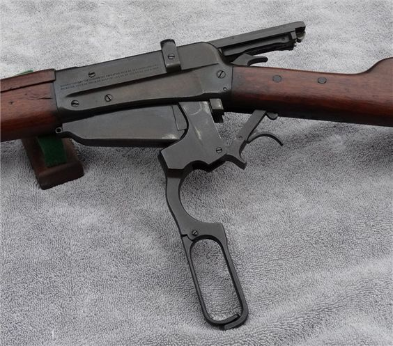 Winchester M1895 A unique lever-action because of its history and caliber. Chambered in 7.62x54R, these rifles were built on contract and supplied to the Russians. It uses the same stripper-clip guide as the Mosin Nagant rifle. Very rare in the U.S since only a few ever made it back to the U.S as surplus, finding one in its original configuration is a challenge. Of those that came back to the U.S, majority have been converted into sporterized hunting rifles. (GRH)