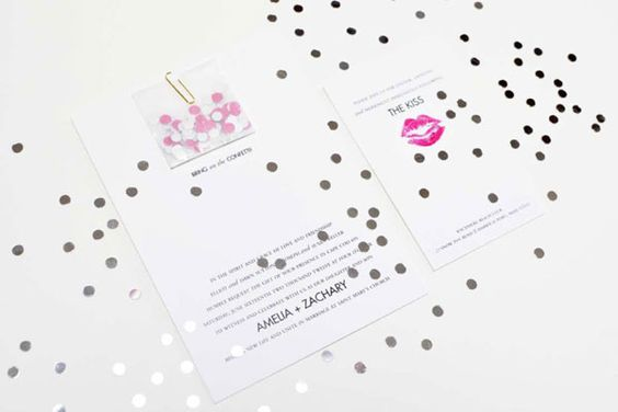 glitter inside invitations!