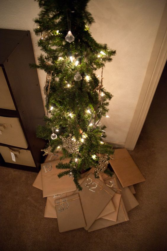 collect 24 christmas books and each night the kids gets to unwrap one and we read it by the lights of the tree.---LOVE this!