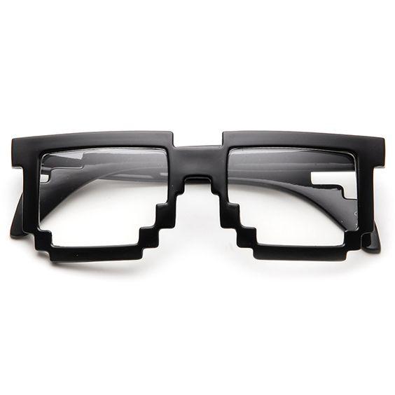 Transparent pixel goggles (12$)
