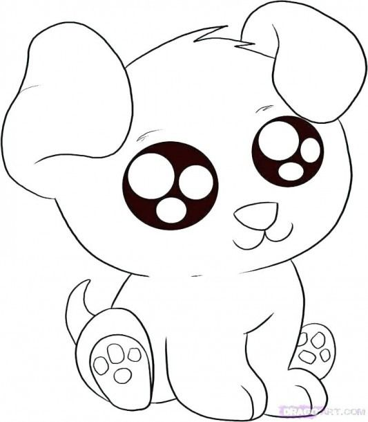 Cute Animal Colouring Pages Dibujos Bonitos A Color Dibujos Faciles De Perros Dibujos Kawaii De Animales