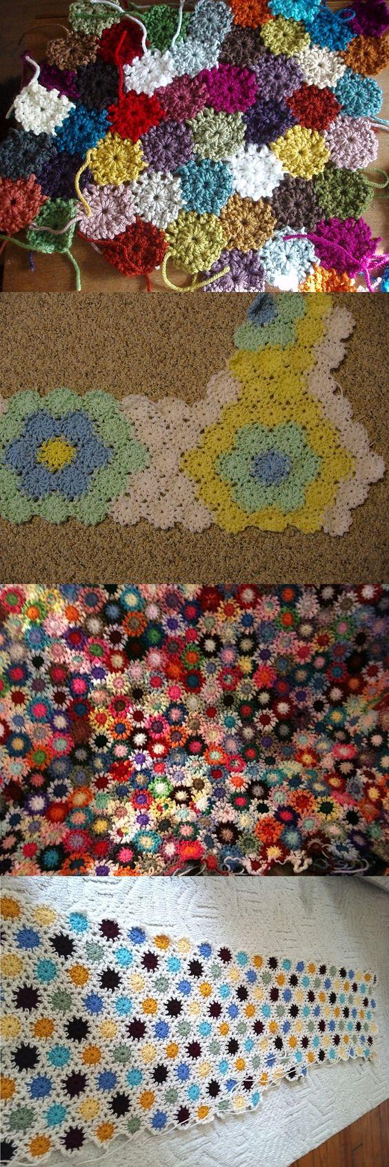 Free Crochet Yoyo Patterns : Yo-yo pattern, free from Priscilla Hewitt. Each yo-yo is ...