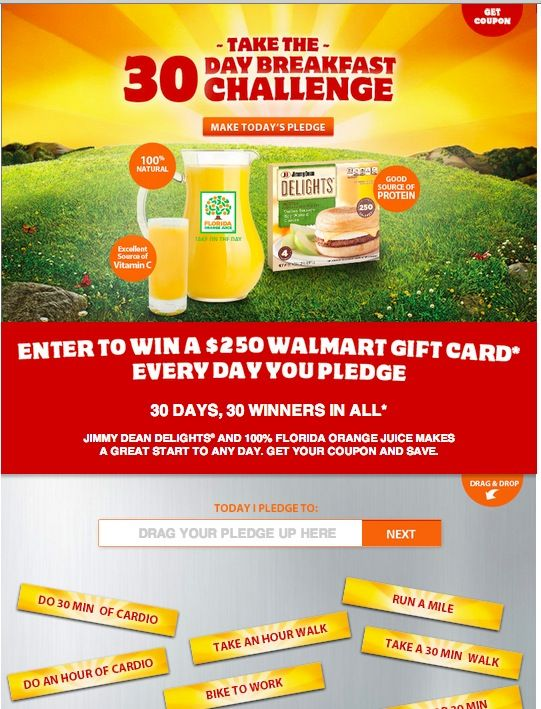 Jimmy Dean 30 Day Breakfast Challenge (Prize Pack Giveaway) on http://mamalovesherbargains.com/2013/01/jimmy-dean-30-day-breakfast-challenge/