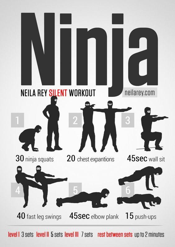 ninja workout...no i have no plans on becoming a ninja.