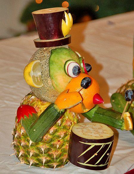 Sculpture de fruits et légumes