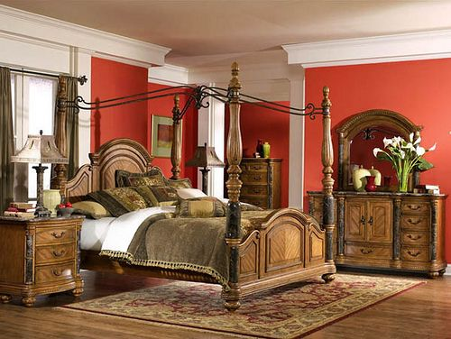 Romantic bedrooms bedrooms and slide design on pinterest for Tuscany bedroom designs