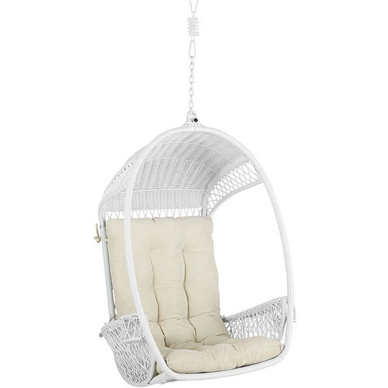 Pier 1 Imports Swingasan® ($240) ❤ liked on Polyvore featuring home, outdoors, patio furniture, hammocks & swings, pier 1 imports and outdoor hanging chair