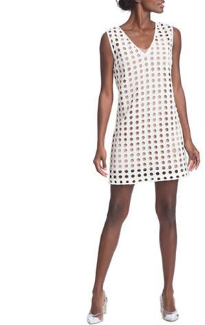 Tracy Reese Cotton-Silk Eyelet Shift Dress