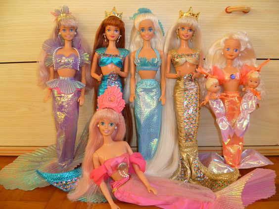 90s mermaid barbies group by patty is totally addicted to
