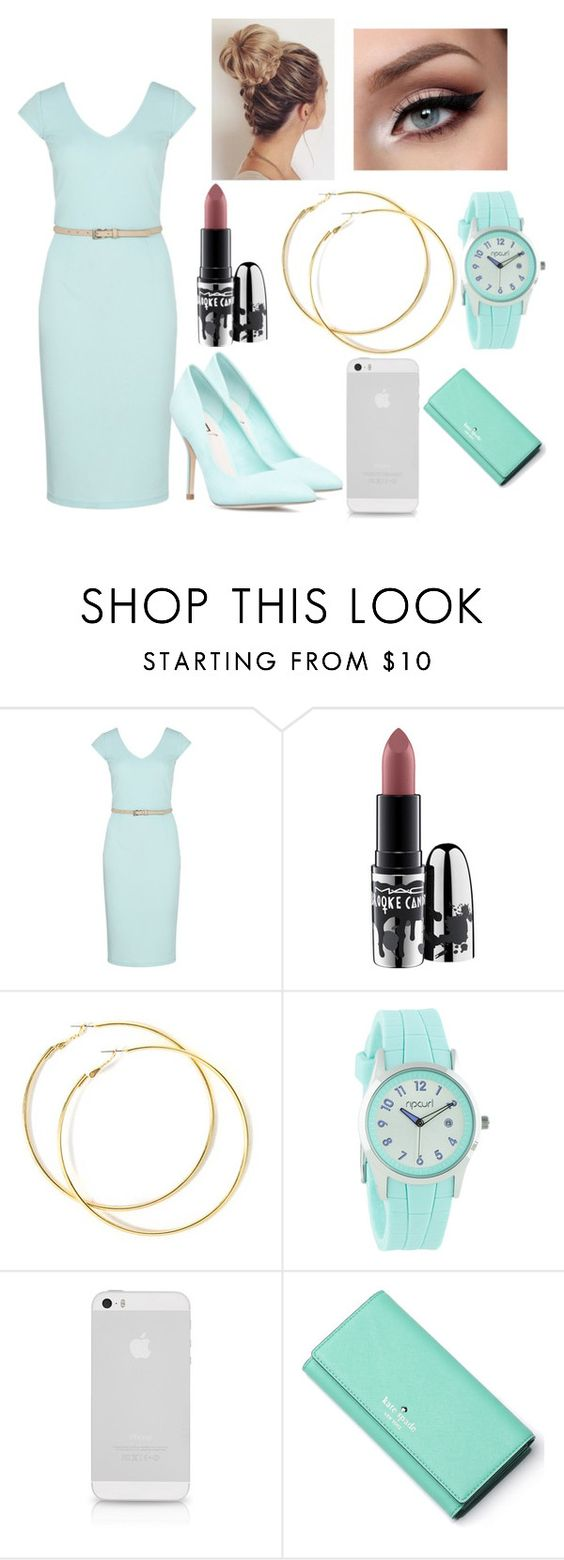 """Untitled #590"" by madhatter-000122334455 ❤ liked on Polyvore featuring Sugarhill Boutique, MAC Cosmetics, Rip Curl and Kate Spade"