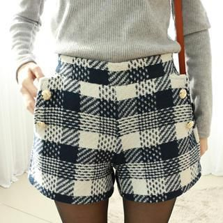 Buy 'Dodostyle – Wool Blend Check Shorts' with Free International Shipping at YesStyle.com. Browse and shop for thousands of Asian fashion items from South Korea and more!