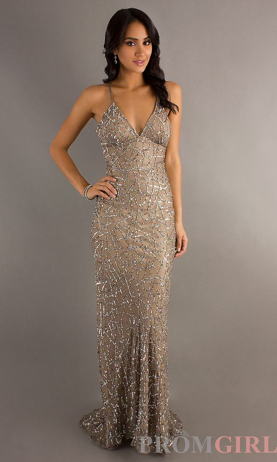 Backless Sequin Gowns- Scala Open Back Prom Dresses- PromGirl ...