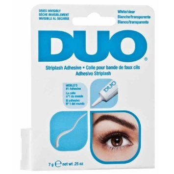 The best eyelash glue, you can also buy it in brown. Ardell Duo Striplash Adhesive 7g / 0.25oz: Amazon.co.uk: Beauty