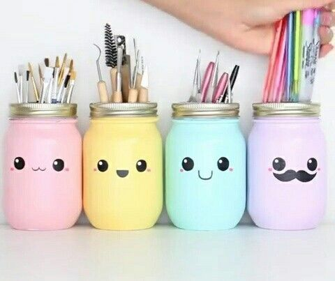 Diy Project And Decoration Ideas To Do With Kids My Baby Doo Mason Jar Diy Diy Tumblr Kawaii Diy
